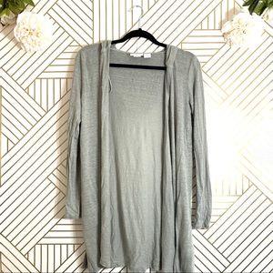 Cynthia Rowley   100% Linen Cardigan w/ a Hood